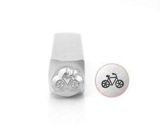 Bicycle Stamp -Steel Stamp -   IMPRESSART -  6mm -  Design Stamp   - Detail hand stamping -Metal stamps - athletic stamp