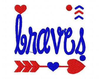 Braves // Football // Machine Embroidery Design // Sports Embroidery Design // Mascot Embroidery Design //Embroidery Design//Joyful Stitches