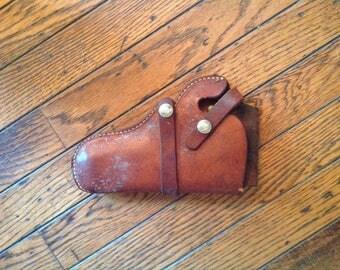 Vintage Leather Hunter Gun Pistol Holster