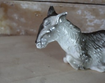 Vintage  Donkey or Burro  Replacement For Your Private Collection Molded Plastic