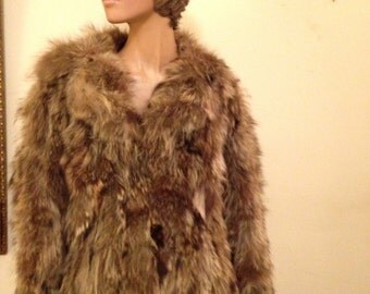 Vintage 70's Raccoon Jacket by Furrocious