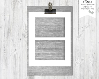 Recipe Card Templates | 4x6 inch | 5x7 inch | PNG File