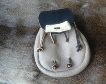 Leather Sporran Style Belt Pouch