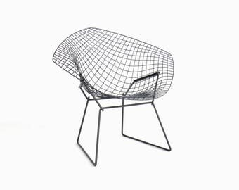 Vintage Knoll Bertoia Wire Diamond Lounge Chair