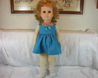 Vintage Adorable Chatty Kathy Doll With Original Apron 1960 Blonde