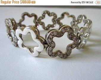 On Sale Large vintage  Sterling Silver Bracelet