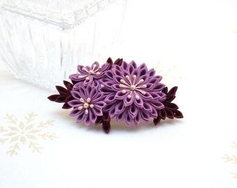 Sugar plum fairy Japanese kanzashi hair comb