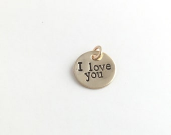 """5/8"""" Custom Tags gold discs charms hand stamped names dates"""