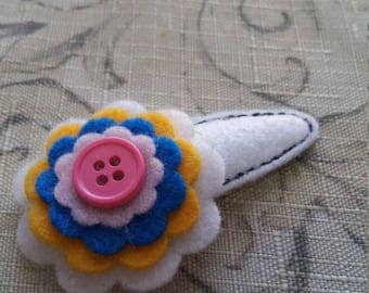 Large Flower Snap Clip / Felt Clip Cover/ Ready To Ship
