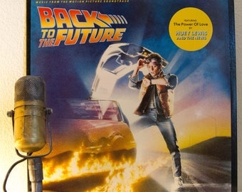 "ON SALE Back To The Future Vinyl Record Album 1980s Comedy Sci Fi Original Movie Soundtrack ""Back to the Future"" (RARE 1985 Crc Record Club"
