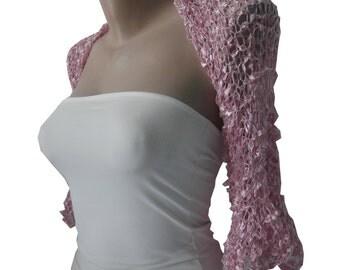 Pink Wedding Bolero-Pink Bridal Bolero-Pink Shrug-Pink Bolero-Bridesmaid Bolero-Rosa Bolero-Mother of the bride-Wedding Shrug-Bolero Jacket