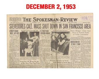 Newspaper from November or December 1953 - Spokane, WA Spokesman-Review