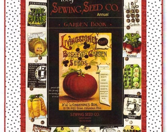 Sewing Seeds Quilt Kit - Sewing Theme Fabric Kit - Garden Theme Quilt Kit - Janet Wecker Frisch Fabric