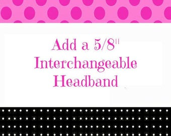 Interchangeable Elastic headband with loop for bow