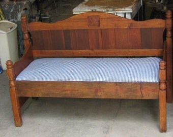 Very Nice Maple Head Board Bench / Daybed, repurposed, re-imagined
