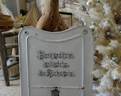 Vintage Metal and Enamel German Kitchen Sign Backsplash
