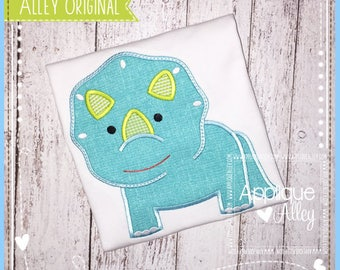 Little Triceratops Applique Embroidery Digital Design