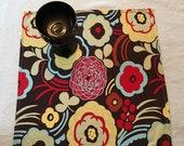 NAPL #1504, Bright Floral Napkins, Large Napkins, Extra Large Napkins, 8 Napkins Set, Napkin Set, Cloth Napkins, Cotton Napkins, Dinner