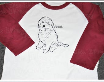 Goldendoodle Tshirt, Dood Shirt, Love My Dood Baseball Raglan, Golden Doodle Baseball Shirt, Goldendoodle Shirt