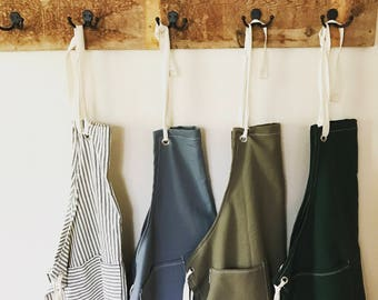 SALE Canvas utility apron made to order 7-10 day processing time