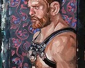RESERVED Brock's Ginger Man, oil on canvas panel 9 x 12 inches Kenney Mencher www.Kenney-Mencher.com