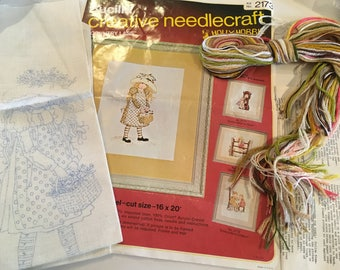 Bucilla Holly Hobbie Embroidery Kit Complete Unused Country Lass 2173