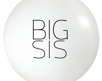 36 inch Balloon  | Big Sister | Pregnancy Announcement | Photo Prop