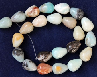 Full Strand Beautiful Amazonite Smooth Teardrop Beads 18X13mm