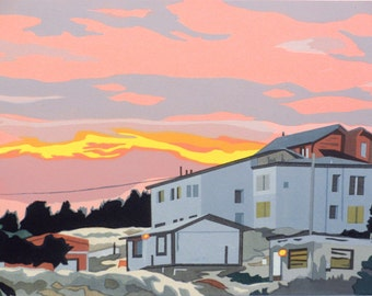 Patagonian Sunrise, limited edition serigraph