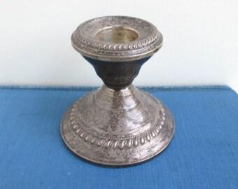 Sterling Silver Candlestick Holder - Vintage, N.S. CO