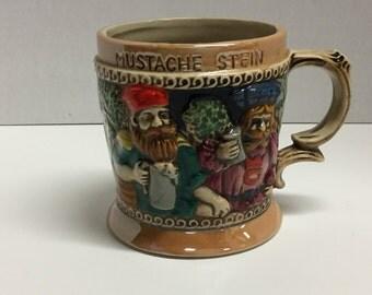 Vintage Mustache Stein Made in Japan Mustache Mug Mustache Beer Stein Mustache Beer Mug