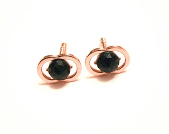 Swank Gold Overlapping Circle Cuff Links