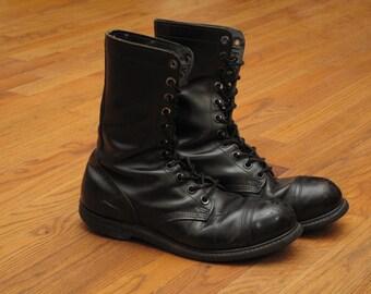 vintage Carolina Steel toe jump boots