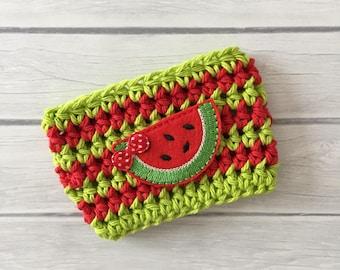Watermelon cup cozy, fruit cup cozy, coffee cup cozy, Summer cup cozy, coffee cup sleeve, crochet cozie, planner supplies, cup cozy