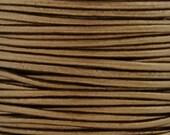 Leather-3mm Round Cord-Metallic Kansa-2 Meters