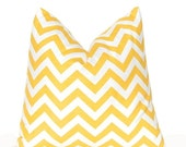 15% Sale Yellow Chevron Throw Pillow Covers -  Yellow Pillow Covers - Sofa Pillows - Corn Yellow Cushion Covers - Chevron Pillow Covers