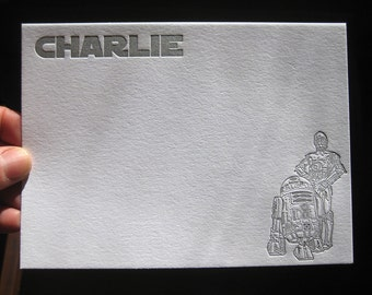 Star Wars Customizable Letterpress Kids Stationery