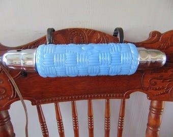 Vintage Blue Glass Bed Lamp , Headboard Lamp