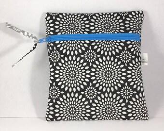 Wet Bag Cloth Pad Wet Bag Black Dotted Zinnia