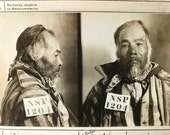 Mugshot 1908 Chinese Murderer Nevada State Police Sent to San Francisco Police Department  Antique