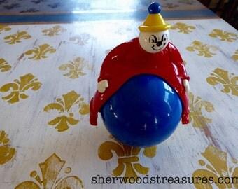 Vintage Galt Roly Poly Ambi Magic Man Clown Toy UK
