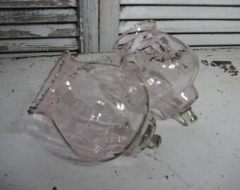 large pink votive cups home interiors pale pink glass votives optic design crimped tops peg votive shabby cottage