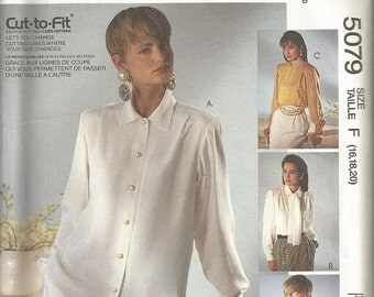 McCall's 5079 Sew News  Blouses and Scarf Pattern SZ 16-20