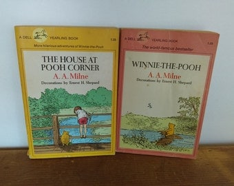 SALE Winnie the Pooh Book Set with Classic Ernest Shepard Illustrations