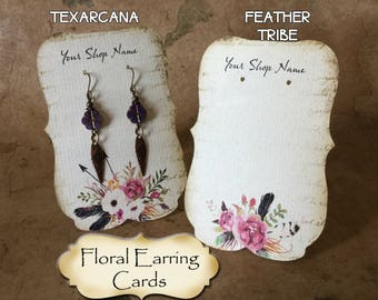 24•Zoe•TEXARCANA & FEATHER TRIBE•2.5 x 3.5 inch Tent Cards•Earring Card•Jewelry Card•Earring Display•Necklace Card•Earring Holder•Tent Card