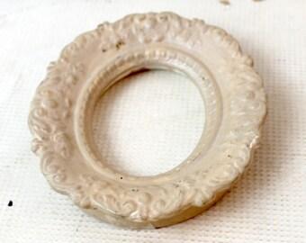 vintage oval plaster frame