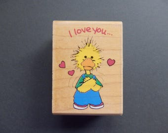I love you - DUCK- WM rubber stamp  (1)
