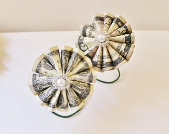 Money Origami Rosette - Choose your denomination Make your own Money Bouquet