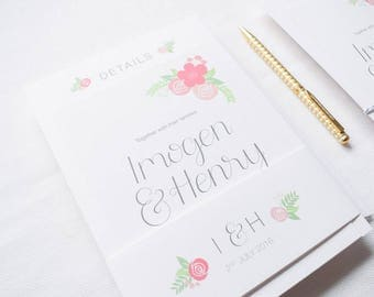 ADD ON: Belly Band | Kate Wedding Stationery Collection | Floral Hand Lettered Wedding Stationery