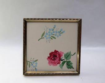 Small 3.5 Square  Brass  picture Frame Simple Decorative design